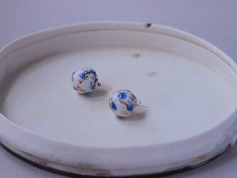 磁器 ピアス feeling blue earth-1の画像