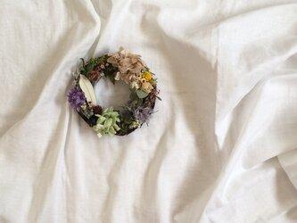 紫陽花のリースの画像