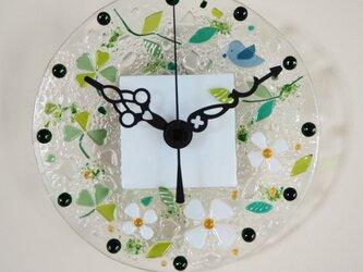 【即納】ミニ壁掛け時計(幸せの青い鳥)の画像