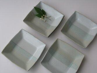 二色の角皿 NO.2の画像