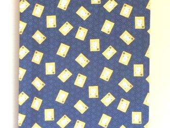 暖簾 受注製作のれん 紺色 招き猫かるた 暖簾以外の製作も可の画像