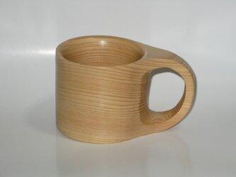 子供用檜のマグカップ(くりぬき)の画像