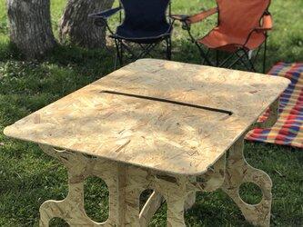 アウトドア バーベキュー 折りたたみ テーブルの画像