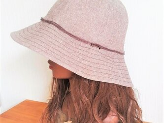 basic hat : natural brownの画像