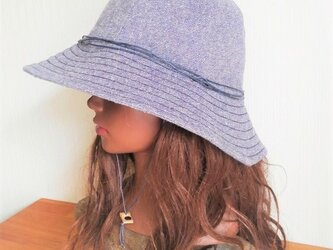 basic hat : natural navyの画像