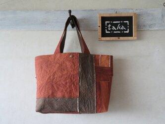 柿渋染トートバッグ 「まかない」の画像