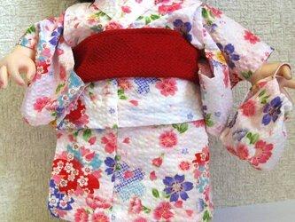 ぽぽちゃん、メルちゃん☆浴衣セット(白)の画像