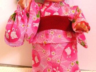 ぽぽちゃん、メルちゃん☆浴衣セット(うさぎ)の画像