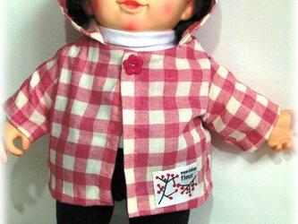 ぽぽちゃん、ちぃぽぽちゃん☆ダブルガーゼのパーカー(チェック)の画像