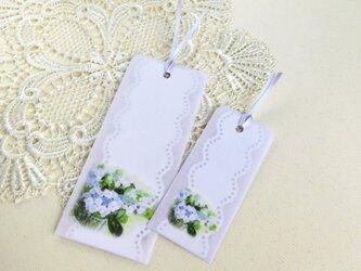 メッセージ栞2種2枚「118額紫陽花」の画像