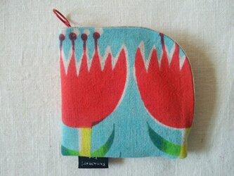 【O様専用】型染め 財布「チューリップ畑」の画像