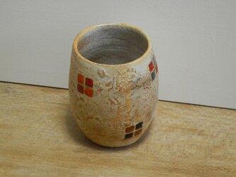 百色(ももいろ)象嵌 つぼみカップ 四角紋の画像