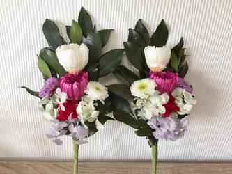 プリザーブドフラワー仏花の画像