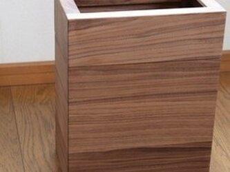 「ウォルナット」  ごみ箱A型(L)  /EA5L[注文制作]の画像