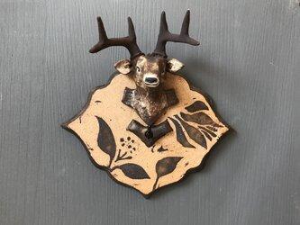 鹿のキーフックの画像