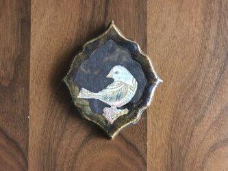 陶の壁掛け(とり)の画像