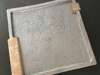 焼締角板皿(5寸)の画像
