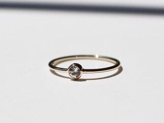White Sapphire 3mm Ringの画像