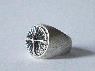 cross button ring(sv*いぶし)の画像