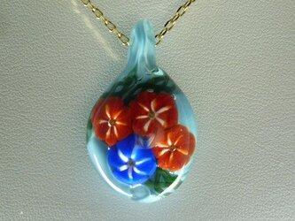 朝顔 NO.1(ガラス、ペンダント、花)の画像
