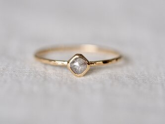 Baby Square Diamond Ring / Silver Greyの画像