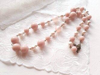 シュガーピンクネックレスの画像