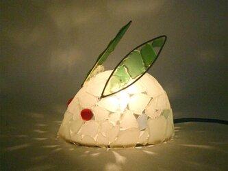 シーグラスランプ ちびうさぎのランプ-37の画像