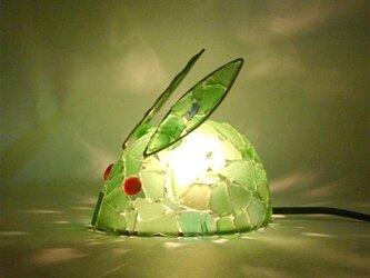 シーグラスランプ ちびうさぎのランプ-39の画像