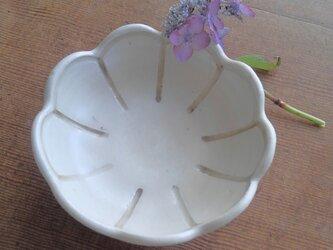 お花のまめ皿 アイボリーの画像