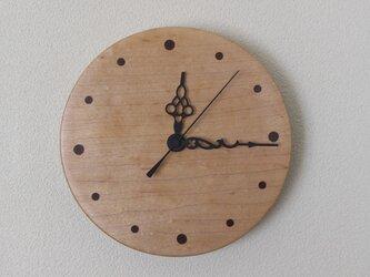 メープルの壁掛け時計  No.14023の画像