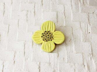 ブローチ【おはな】黄色の画像