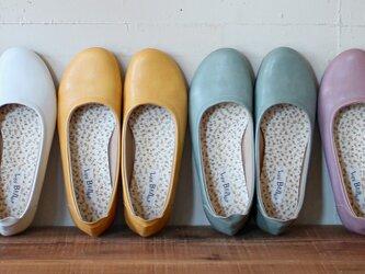 ふんわり柔らか♪バレエシューズ(PETAL) 靴 日本製 国産素材 オリジナルシューズ 【納期5~11日】の画像