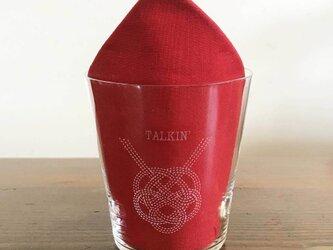名入れ/文字入れで特別なグラスに 名入れ:水引デザイングラス(亀)の画像