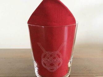 文字入れで特別なグラスに 水引デザイングラス(亀)の画像
