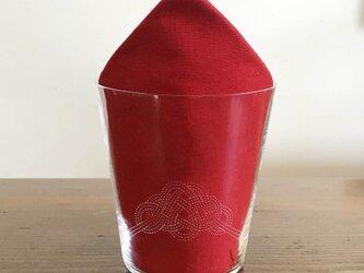 文字入れで特別なグラスに 水引デザイングラス(松)の画像