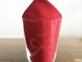 名入れ/文字入れで特別なグラスに 名入れ:水引デザイングラス(叶)の画像