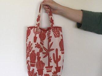 Red Cactus /totebagの画像