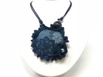 藍染め ネックレスの画像