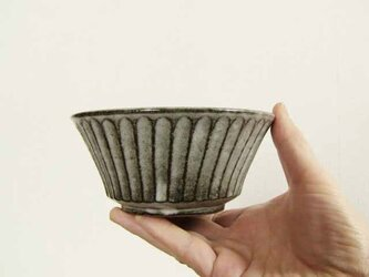 しのぎ手の切立鉢(わら灰)/オーダーメイド受付可の画像