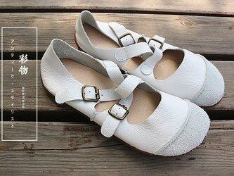 【受注製作】さっと履ける牛革縫製パンプス 履き心地抜群 ストラップ  KP883の画像