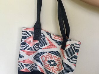 red x blue / tote bagの画像