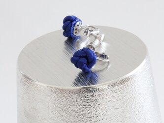 ダークブルー コロンとイヤリング(シルバー)の画像