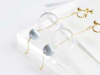ガラスの実のイヤリング:ブルーの画像