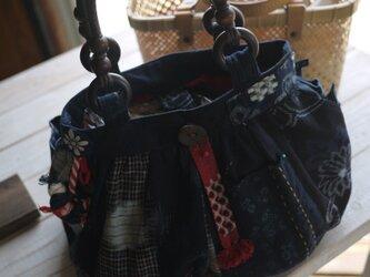 Y様専用   古布、久留米絣、サルボボバックの画像