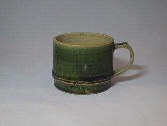 95 竹をモチーフにしたコーヒーマグカップ。の画像