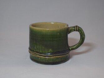 97 竹をモチーフにしたコーヒーマグカップ。の画像