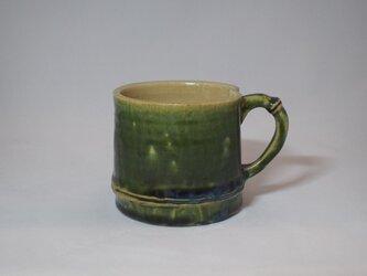 98 竹をモチーフにしたコーヒーマグカップ。の画像