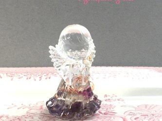 女の子の天使ちゃん オルゴナイト 癒しと安らぎ アメジストの画像