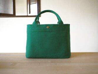 しかく トートバッグ / 深碧いろ 緑の画像