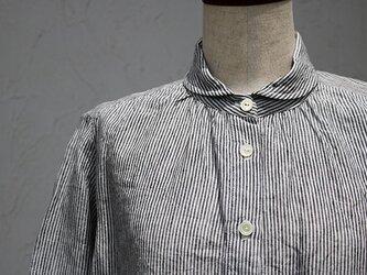 丸襟ブラウス:ストライプの画像